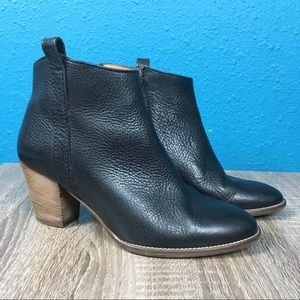 Madewell Billie black leather ankle bootie, 6